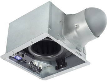 BreezSignature - SIG80-110HLED - 80/110 CFM Exhaust Fan/Dimmable LED light/Night-Light with Humidity Sensor Dual speed