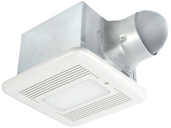 BreezSignature - SIG80-110MHLED - 80/110 CFM Dual Speed Fan/Dimmable LED Light/Night-Lightwith Motion and Humidity Sensor
