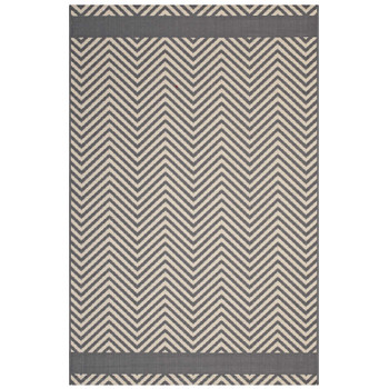Optica Chevron With End Borders 8x10 Indoor and Outdoor Area Rug R-1141B-810