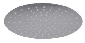 "ALFI brand RAIN128-BSS 12"" Oval Brushed Solid Stainless Steel Ultra Thin Rain Shower Head"