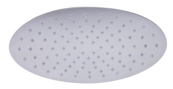 "ALFI brand RAIN128-PSS 12"" Oval Polished Solid Stainless Steel Ultra Thin Rain Shower Head"
