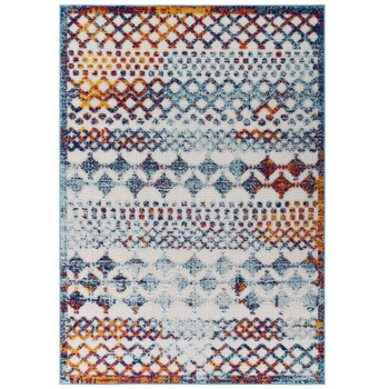 Reflect Giada Abstract Diamond Moroccan Trellis 8x10 Indoor/Outdoor Area Rug R-1178B-810