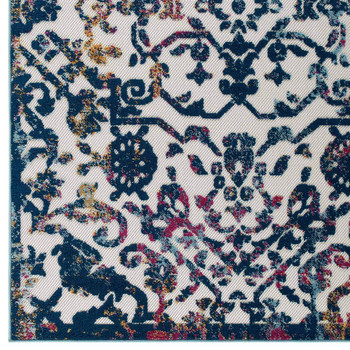 Reflect Primrose Ornate Floral Lattice 5x8 Indoor/Outdoor Area Rug R-1179B-58