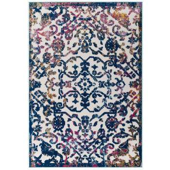 Reflect Primrose Ornate Floral Lattice 8x10 Indoor/Outdoor Area Rug R-1179B-810