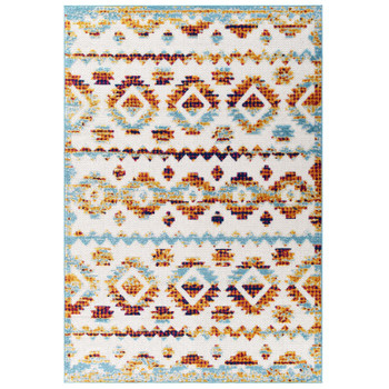 Reflect Takara Abstract Diamond Moroccan Trellis 8x10 Indoor and Outdoor Area Rug R-1180B-810