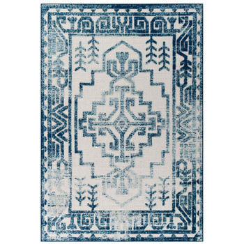 Reflect Nyssa Distressed Geometric Southwestern Aztec 8x10 Indoor/Outdoor Area Rug R-1181B-810