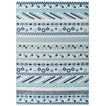 Reflect Cadhla Vintage Abstract Geometric Lattice 5x8 Indoor and Outdoor Area Rug R-1182B-58
