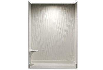 CLARKE IRIDESS ORIGIN Solid Surface Shower Walls In Matte White/ Base Pan Not Included -  CAIR6084S-01