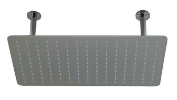 "ALFI brand RAIN2012-PSS 20"" Rectangular Polished Solid Stainless Steel Ultra Thin Rain Shower Head"