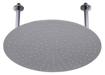 "ALFI brand RAIN20R-BSS 20"" Round Brushed Solid Stainless Steel Ultra Thin Rain Shower Head"