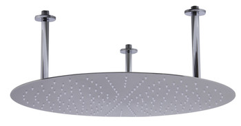 "ALFI brand RAIN24R-BSS 24"" Round Brushed Solid Stainless Steel Ultra Thin Rain Shower Head"