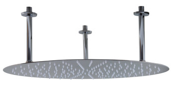 "ALFI brand RAIN24R-PSS 24"" Round Polished Solid Stainless Steel Ultra Thin Rain Shower Head"