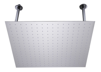 "ALFI brand RAIN24S-BSS 24"" Square Brushed Solid Stainless Steel Ultra Thin Rain Shower Head"