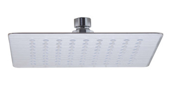 "ALFI brand RAIN8S-BSS Solid Brushed Stainless Steel 8"" Square Ultra Thin Rain Shower Head"