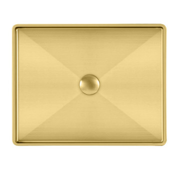 Noah Plus 10 gauge frame, Rectangular Brass Finish Above Mount Basin Set with center drain,WHNPL1578-B