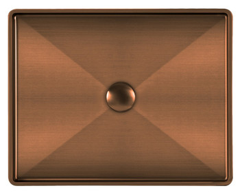 Noah Plus 10 gauge frame, Rectangular Copper Finish Above Mount Basin Set with center drain,WHNPL1578-CO