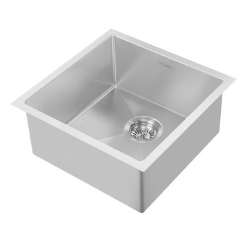 Noah Plus 16 gauge Single Bowl-Brushed Steel-Linen Textured Dual-Mount Sink Set,WHNPL1818-BSS