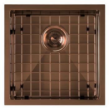 Noah Plus 16 gauge Single Bowl-Copper Finish- Linen Textured Dual-Mount Sink Set,WHNPL1818-CO