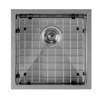 Noah Plus 16 gauge Single Bowl=Gun Metal Finish- Linen Textured Dual-Mount Sink Set,WHNPL1818-GM