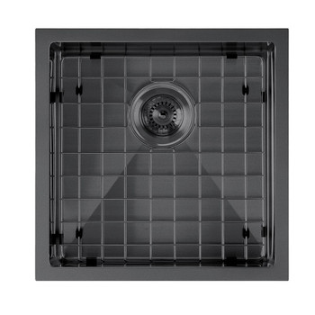 Noah Plus 16 gauge Single Bowl-Matte Black Textured Dual-Mount Sink Set,WHNPL1818-MBLK