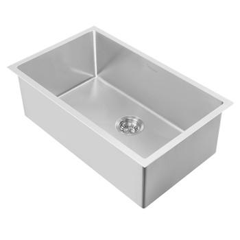Noah Plus Heavy Duty-Brushed Steel-, 6 Gauge frame, Single Bowl Dual-Mount Sink Set,WHNPL2718-BSS