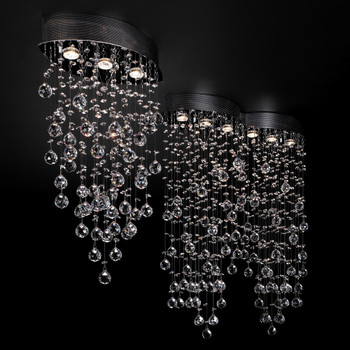 PLC 3 Light Ceiling Light Drizzle Collection 81621 PC