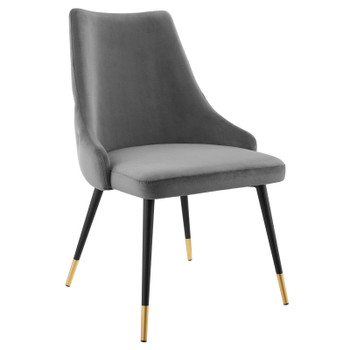 Adorn Tufted Performance Velvet Dining Side Chair EEI-3907-GRY