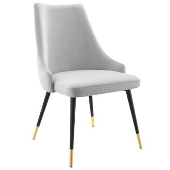 Adorn Tufted Performance Velvet Dining Side Chair EEI-3907-LGR