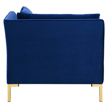Ardent Performance Velvet Sectional Sofa Corner Chair EEI-3985-NAV