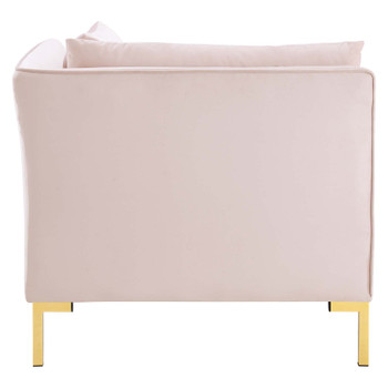 Ardent Performance Velvet Sectional Sofa Corner Chair EEI-3985-PNK