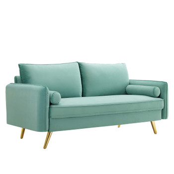 Revive Performance Velvet Sofa EEI-3988-MIN