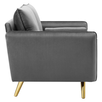 Revive Performance Velvet Loveseat EEI-3989-GRY