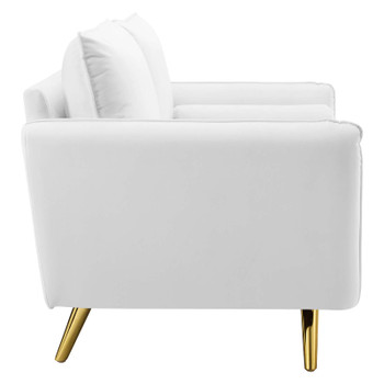 Revive Performance Velvet Loveseat EEI-3989-WHI