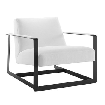 Seg Upholstered Accent Chair EEI-4220-BLK-WHI