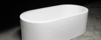 "Clarke CA7234FS-00 K2 Oval 7034 Satin White 72""x36""x23"" Freestanding Tub"