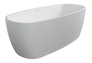 "Clarke CAT6632FS-00 Lunar II Satin White 66""x32""x25"" Freestanding Tub"