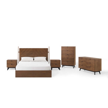 Kali 5-Piece Bedroom Set MOD-6419-WAL-SET