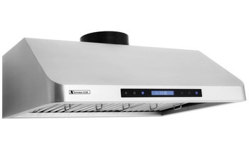 "XtremeAir PX10-U36, 36"", LED Lights, Baffle Filter W/ Grease Drain Tunnel, 1.0mm Non-Magnetic Stainless Steel,  Under Cabinet Mount Range Hood"