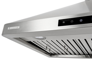 "XtremeAir PX02-W30, 30"", LED lights, Baffle Filters W/ Grease Drain Tunnel, 1.0mm Non-Magnetic Stainless Steel Seamless Body, Wall Mount Range Hood"