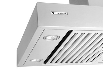 "XtremeAir PX06-I36, 36"" Wide, Easy Clean swing-able baffle Filters, Stainless Steel, Island Mount Range Hood"