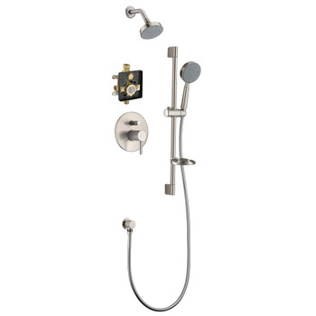 Dawn Grand Canyon Shower Set Complete with Trim/Valve/hand-shower DSSGN04BN In Brushed Nickel