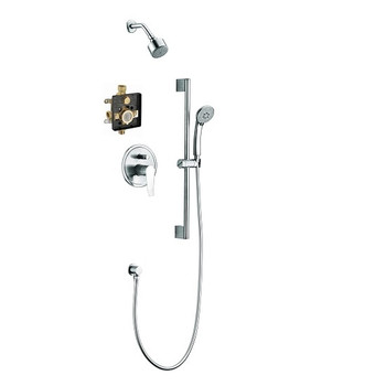Dawn Everglades DSSES01C Shower Set Complete with Trim/Valve/hand-shower In Chrome