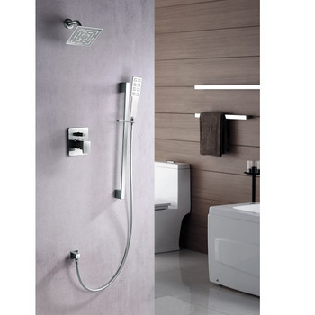 Dawn Acadia DSSAA04BN Shower Set Complete with Trim/Valve/hand-shower In Brushed Nickel
