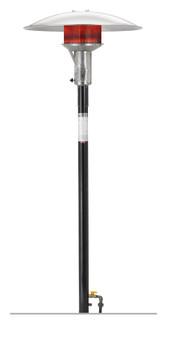 SUNGLO Black PSA265VE Permanent Post Natural Gas Heater with 24 volt Automatic Ignition Model PSA265VE