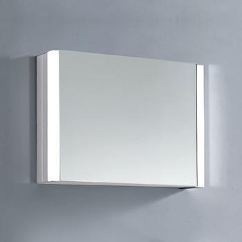 Dawn DLEDLV17 LED Wall Hang Aluminum Mirror/Medicine Cabinet with Matte Aluminum Frame and IR Sensor