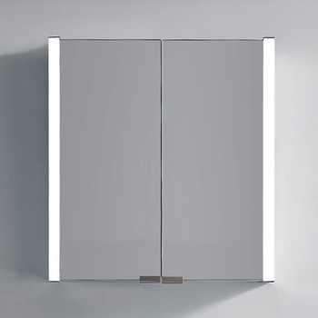 Dawn DLEDLV15 LED Wall Hang Aluminum Mirror/Medicine Cabinet with White Painting Frame and IR Sensor