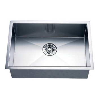 Daweier ESR445118BN Kitchen Sink Set Includes Sink,Faucet In Brush Nickel & Bottom Grid