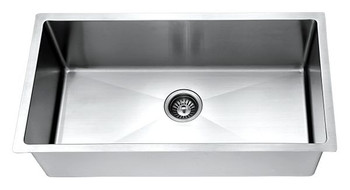 Daweier ESR319196-C Kitchen Sink Set Includes Sink,Faucet In Chrome with Bottom Grid