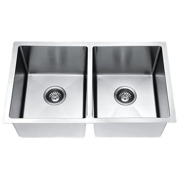 Daweier ESR300182-BN Kitchen Sink Set Includes Sink,Faucet In Brush Nickel with Bottom Grid