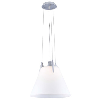 PLC 1 Light Pendant Pinnacle Collection 265OPAL118GU24 In Aluminum